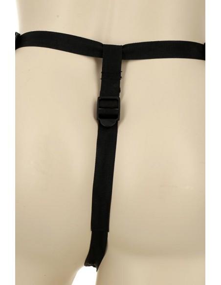 Arrière du Gode ceinture hyper réaliste en Skin Touch 19.5cm