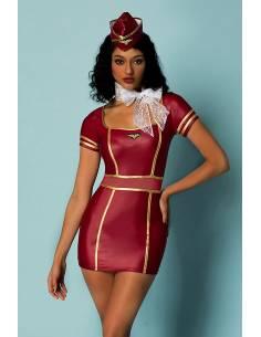 Déguisement sexy uniforme Hôtesse de l'air face