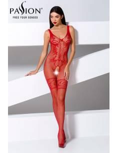 Combinaison Sexy BS069 Résille Rouge