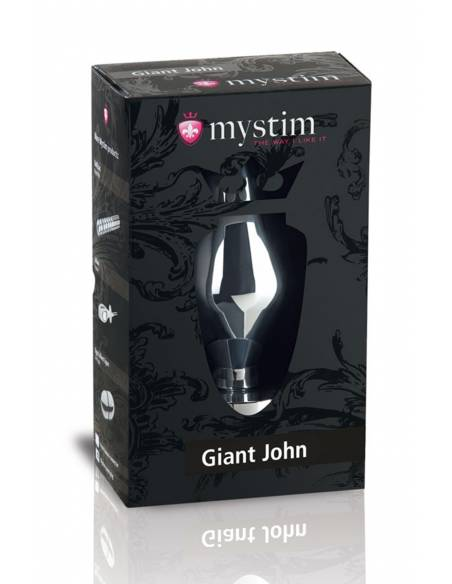 Boite du Plug électro-stimulation aluminium Mystim Giant John XXL