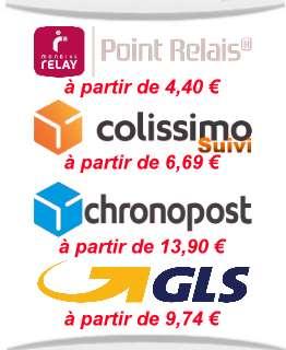 Exemples de frais de port France métropolitaine